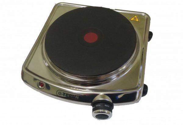 Электроплитка типа ЕПЧЕ 1-2,0/220 с чугунной экспрес-конфоркой, нержавеющая
