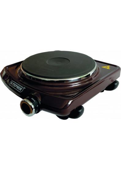 Электроплитка типа ЕПЧ 1-1,5/220 с чугунной конфоркой, коричневая