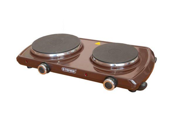 Электроплитка типа ЕПЧ 2-2,2/220 с чугунной конфоркой, коричневая