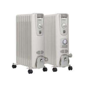 Oil-filled electric radiators